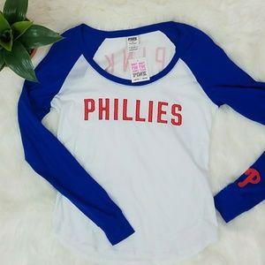 NWT VS Pink Phillies Baseball Tee